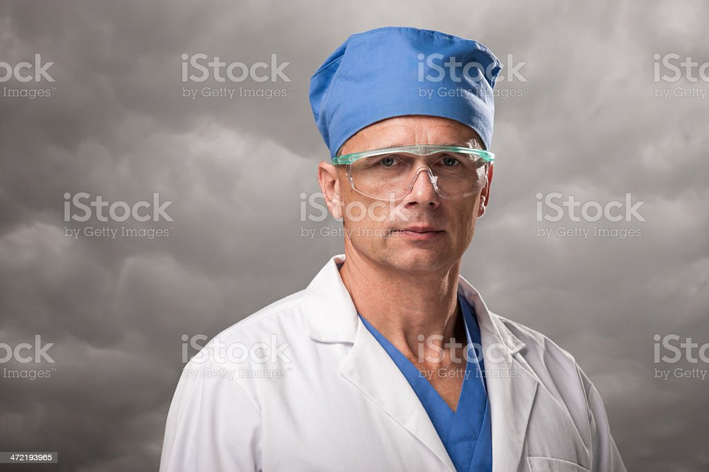 Mature Male Surgeon Portrait royalty-free stock photo