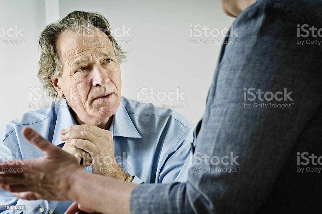 Mature Male talking To a Counsellor royalty-free stock photo