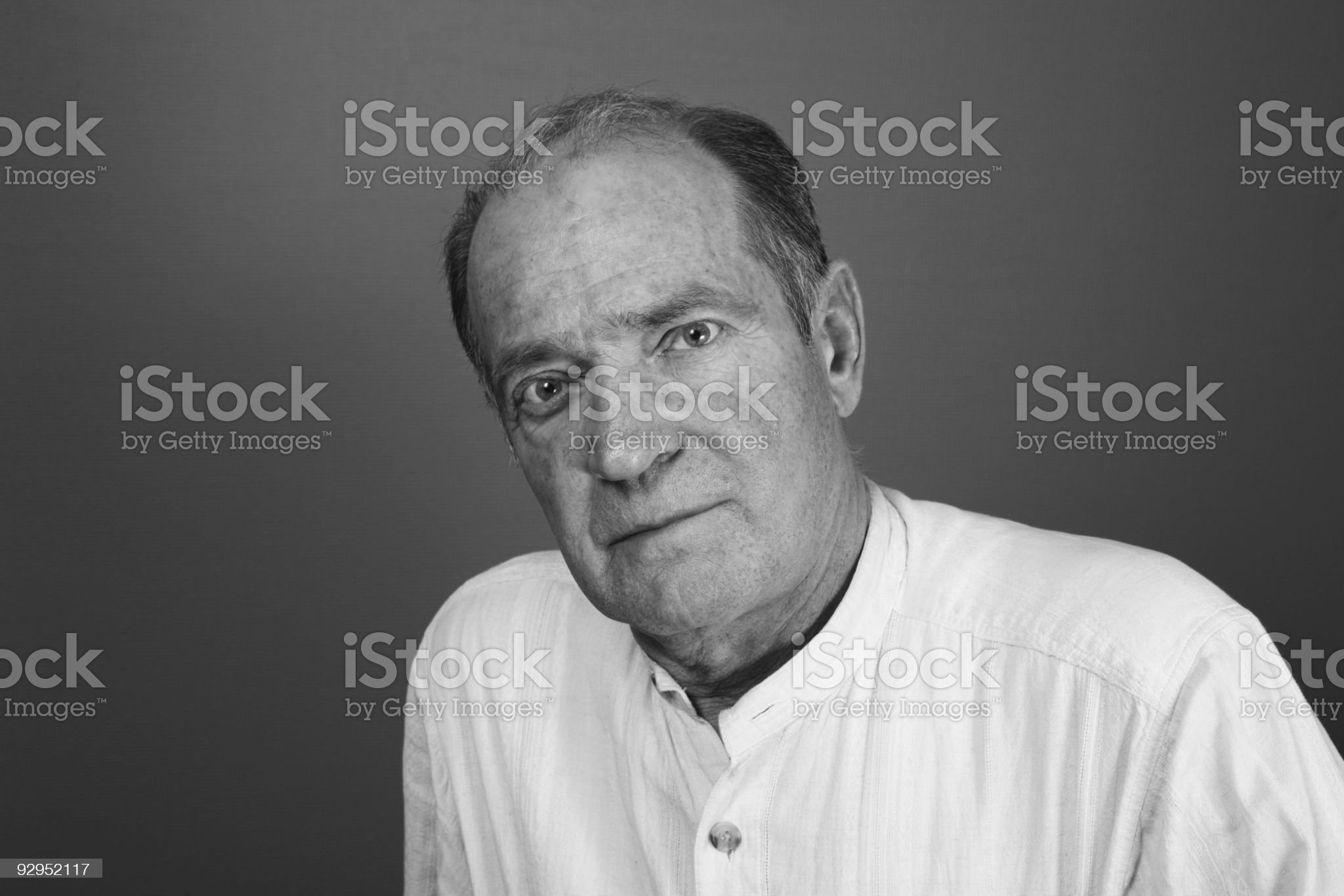 mature man black and white portrait royalty-free stock photo