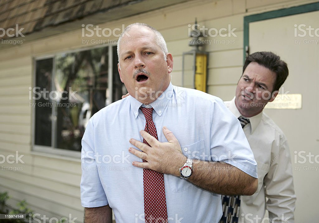 Mature Man - Chest Pain royalty-free stock photo