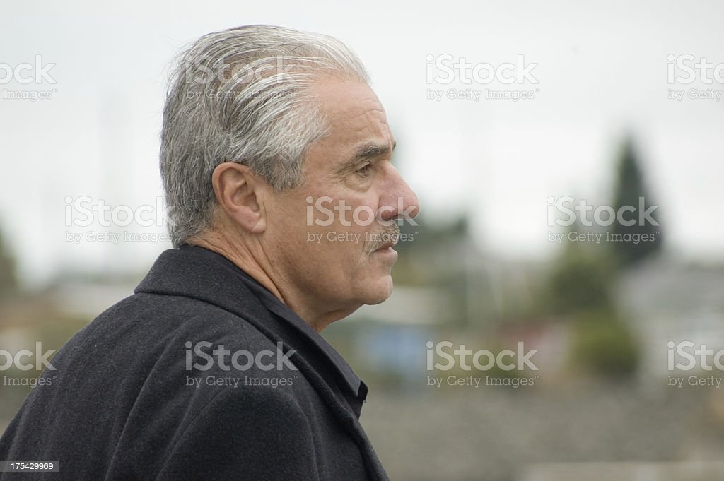Mature Man Feeling Grieved stock photo