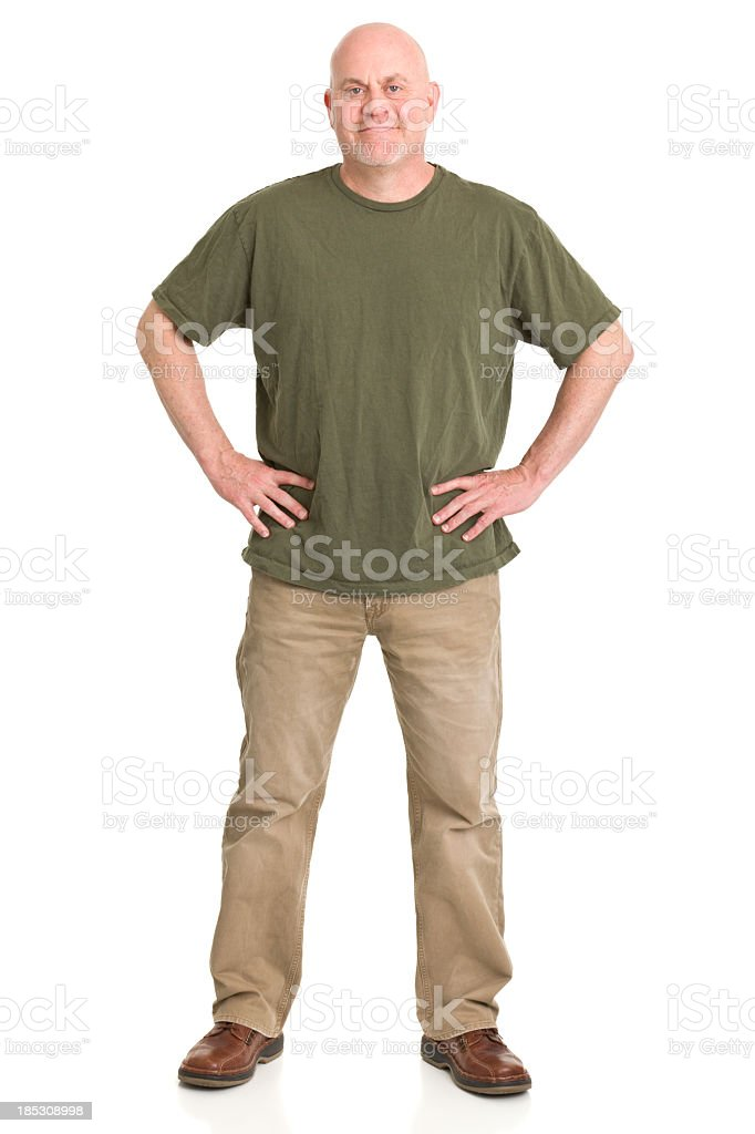 Mature Man Full Length Portrait stock photo