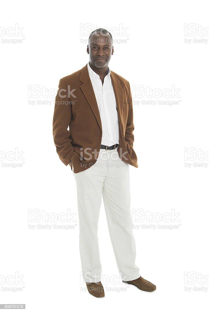 Mature Man - Full Length Portrait stock photo