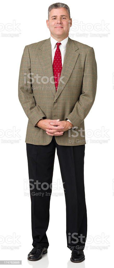 Mature Man Full Length Standing Portrait royalty-free stock photo