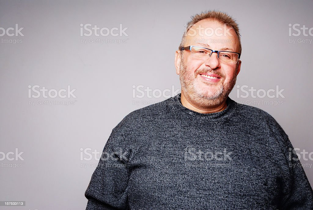 mature man portrait stock photo