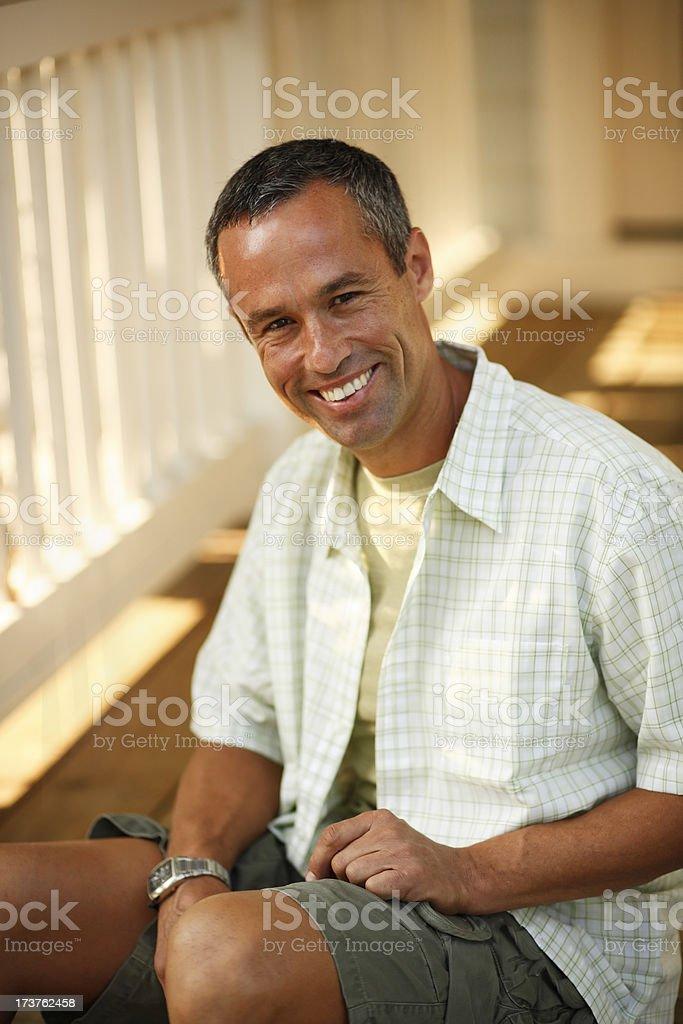 Mature Man Portrait royalty-free stock photo