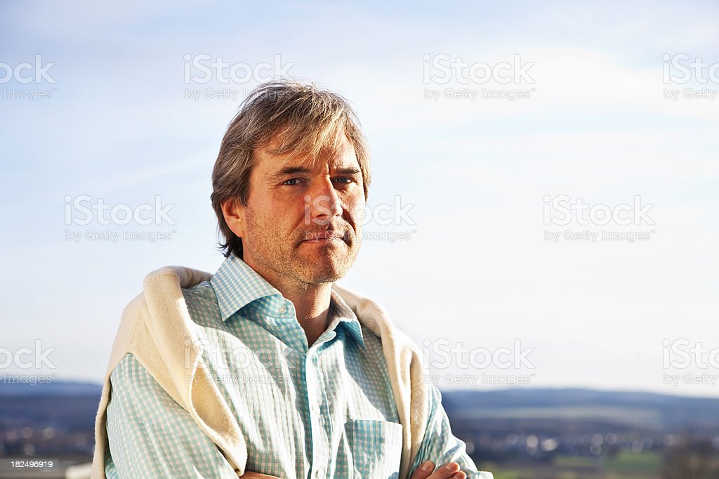 mature man portrait royalty-free stock photo