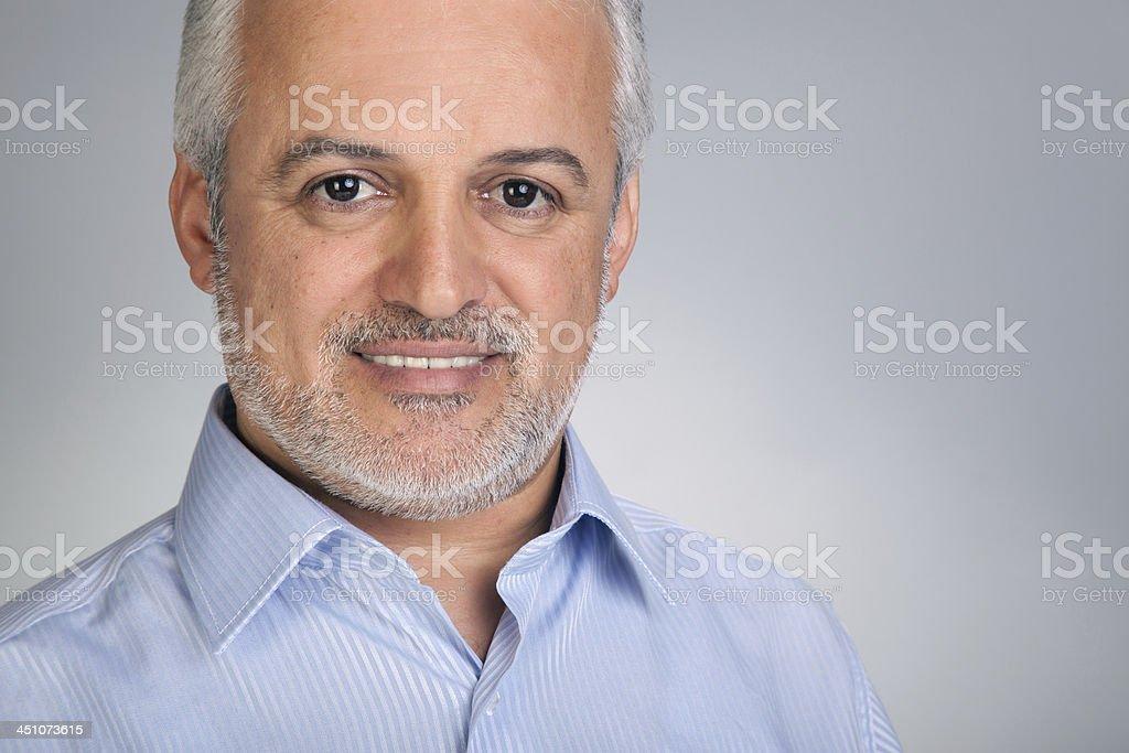 Mature man smile royalty-free stock photo