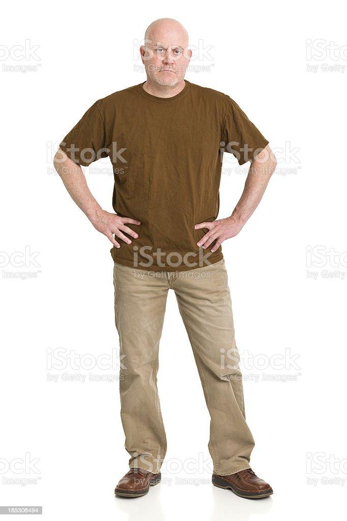 Mature Man Standing Full Length Portrait royalty-free stock photo
