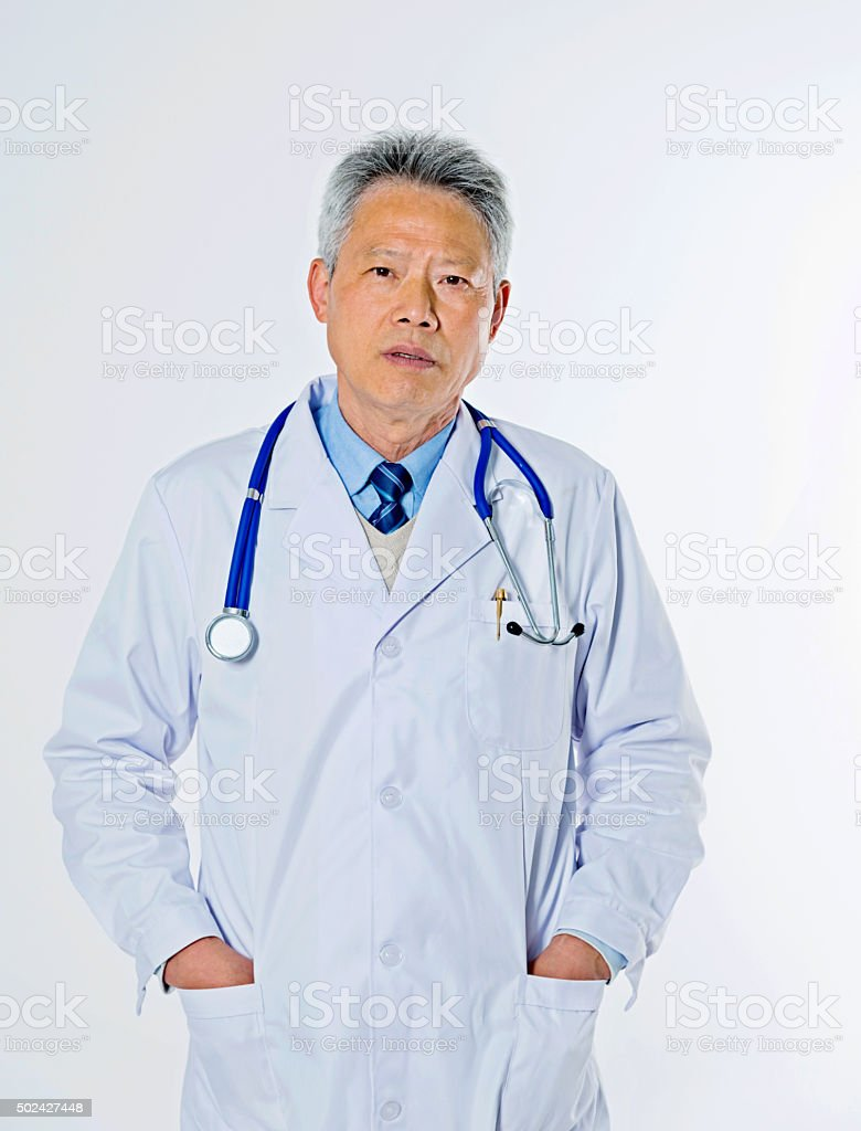 mature medical doctor stock photo
