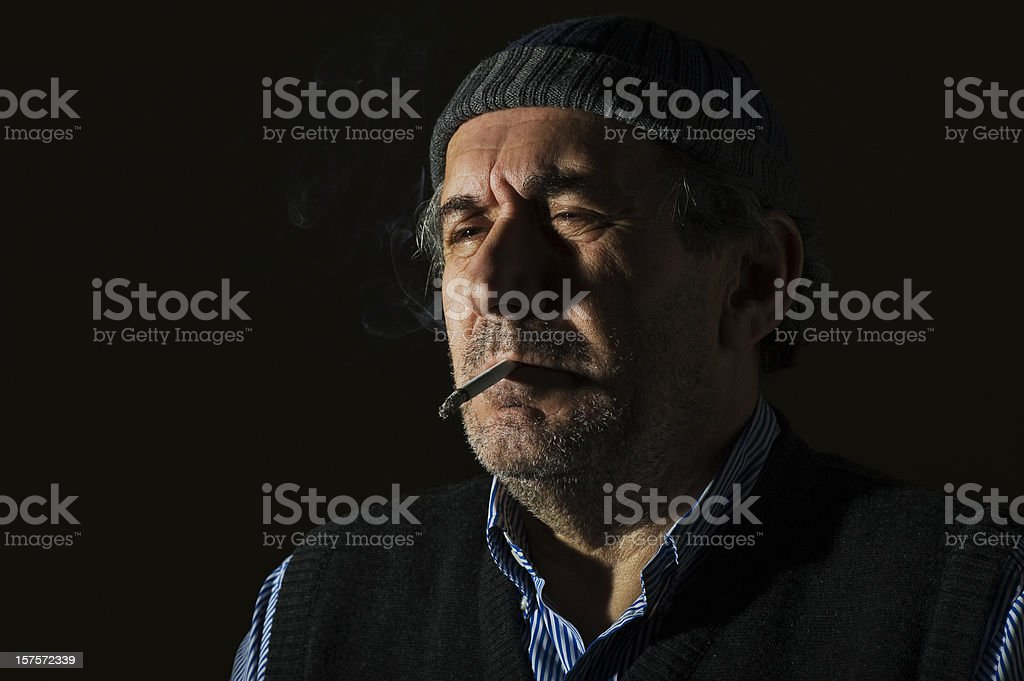 Mature men portrait royalty-free stock photo