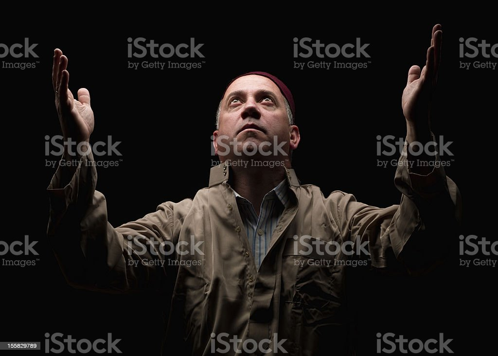 Mature middle eastern man stock photo