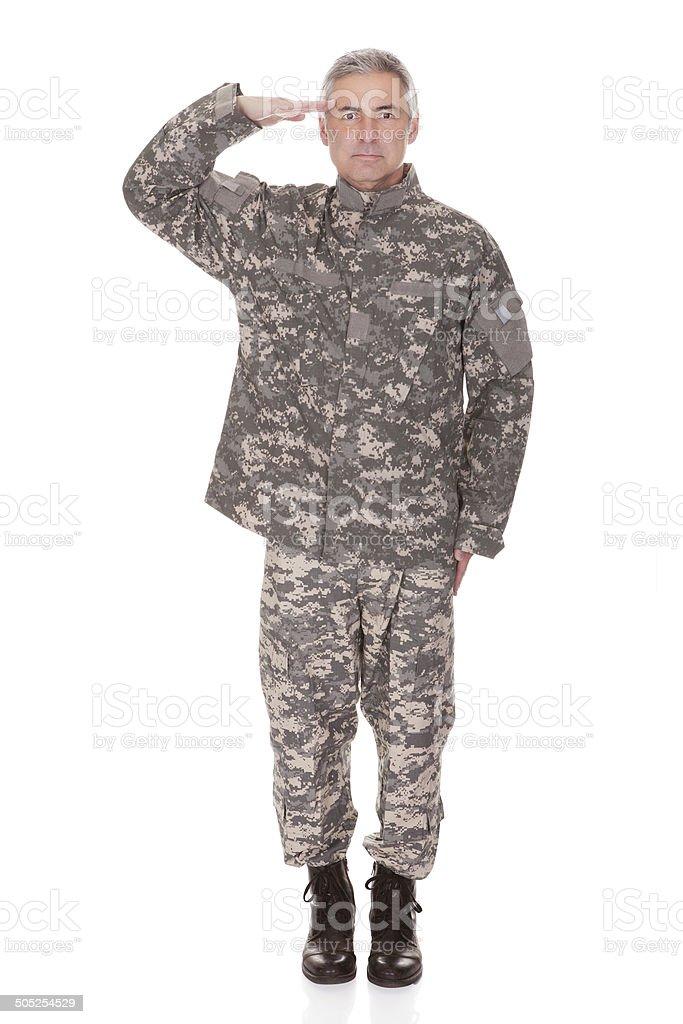 Maduro Military Soldier hacer un saludo - foto de stock