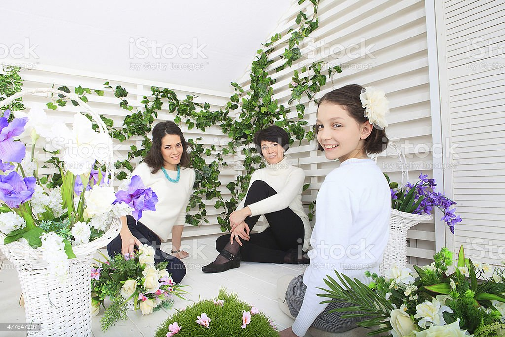 Mature Mother And Daughters royalty-free stock photo