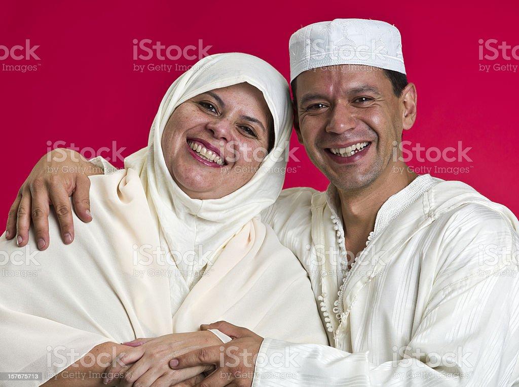 Mature Muslim Couple royalty-free stock photo