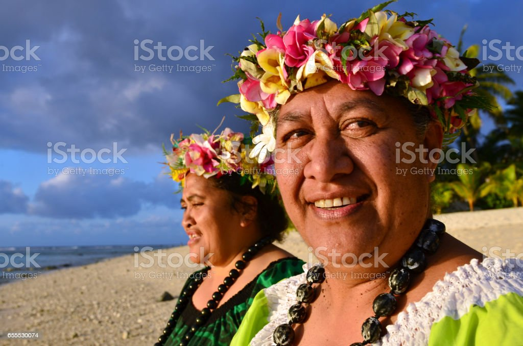 Mature Polynesian Pacific Island Women stock photo