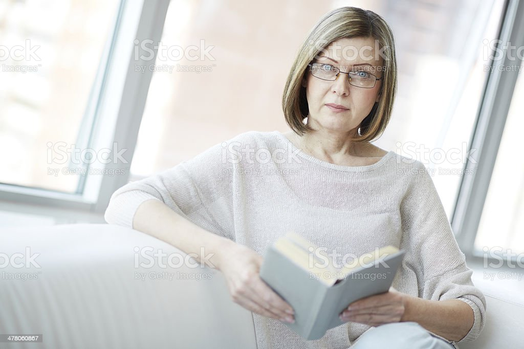 Mature reader royalty-free stock photo