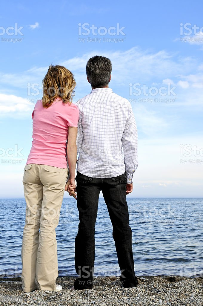 Mature romantic couple royalty-free stock photo