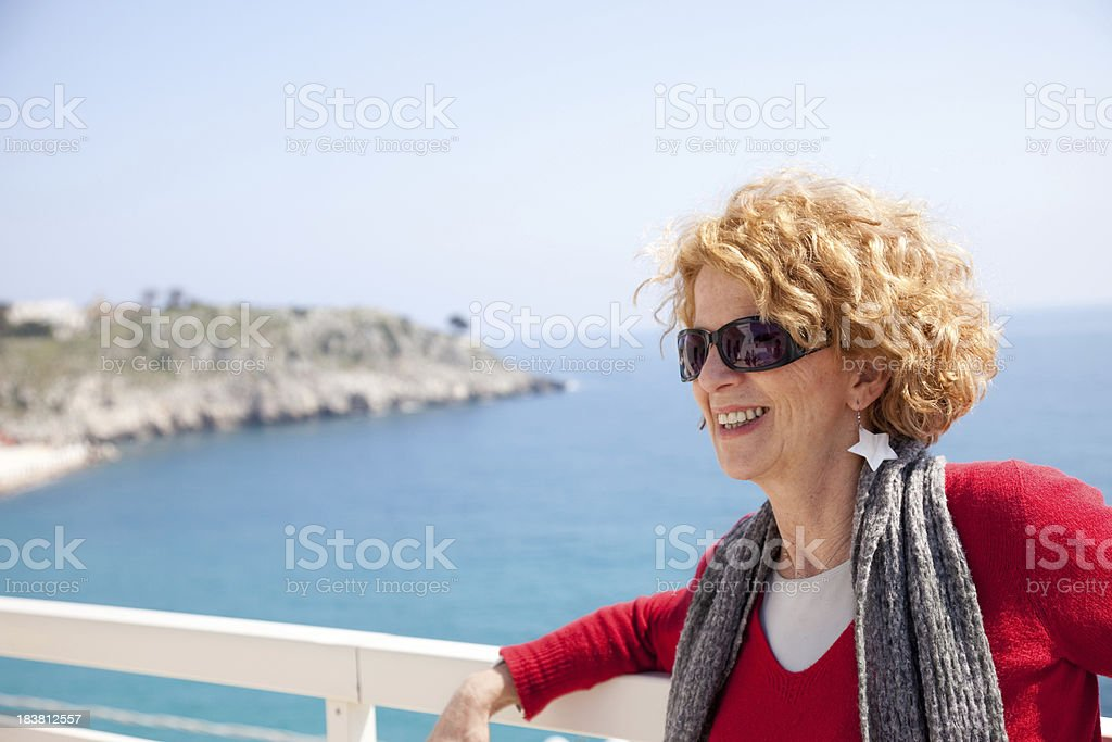 Mature Smiling Woman royalty-free stock photo