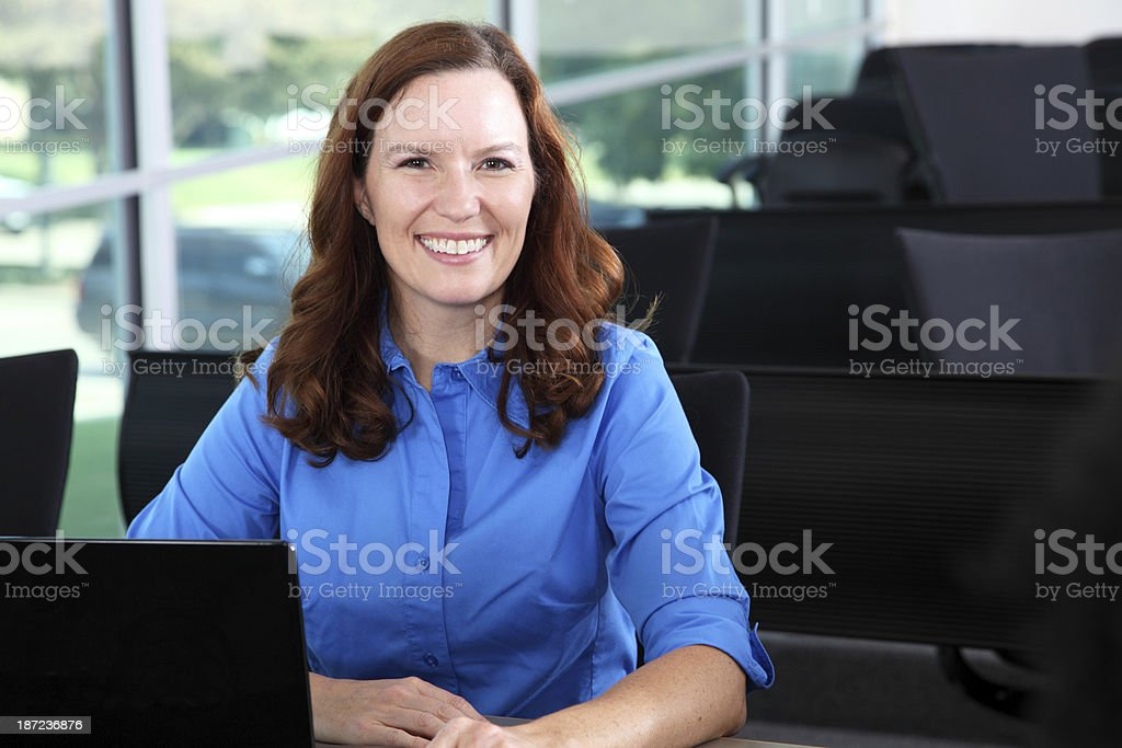 Mature Student Ready For Class stock photo