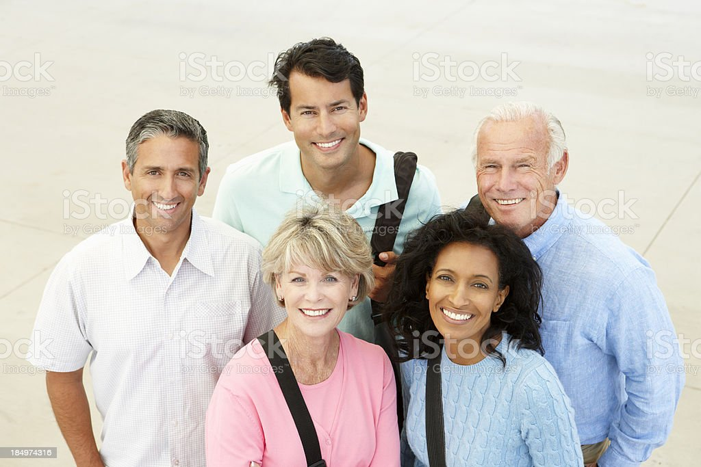 Mature students outdoors stock photo