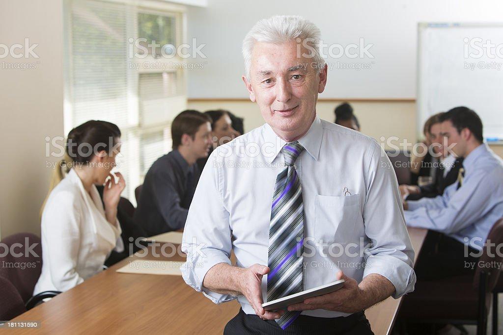 Mature Tablet Computer Man royalty-free stock photo