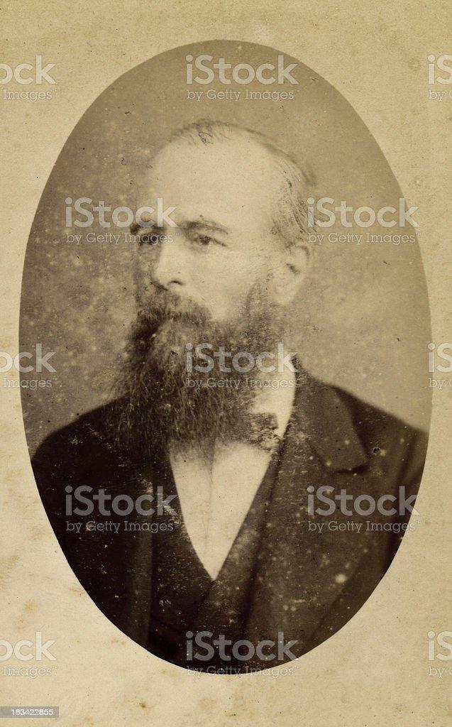 Mature Victorian Gentleman royalty-free stock photo