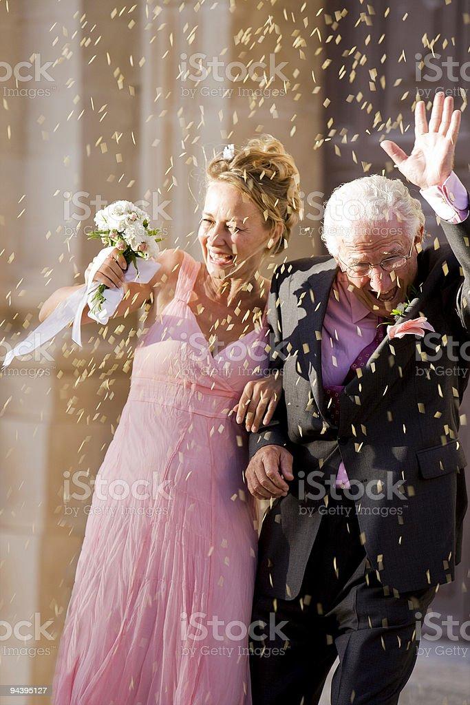 Mature Wedding Couple stock photo