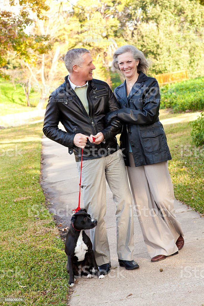Mature Wife Admiring Her Husband royalty-free stock photo