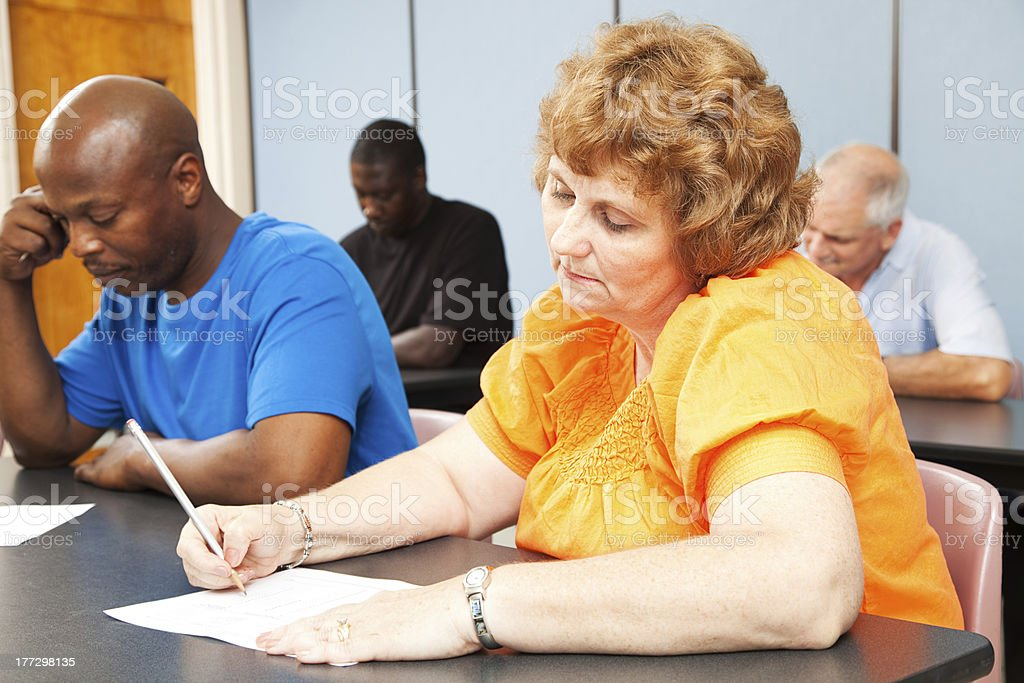 Mature Woman - Adult Education royalty-free stock photo