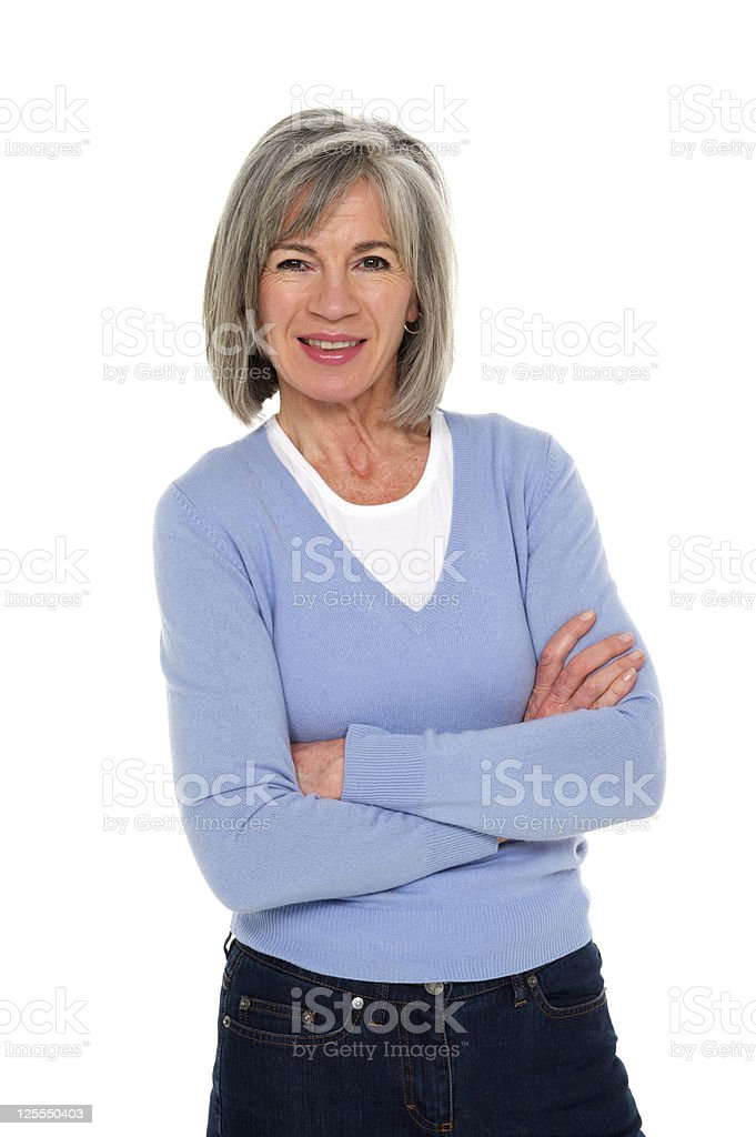 Mature woman around fifty years old. royalty-free stock photo