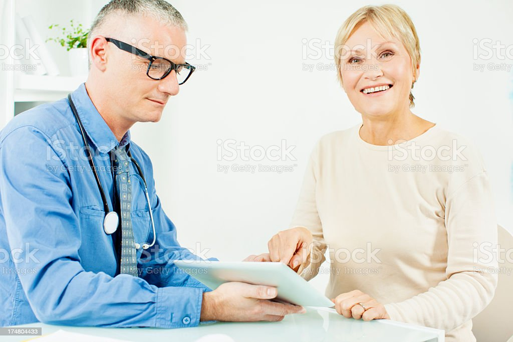 Mature Woman At Doctors Office royalty-free stock photo
