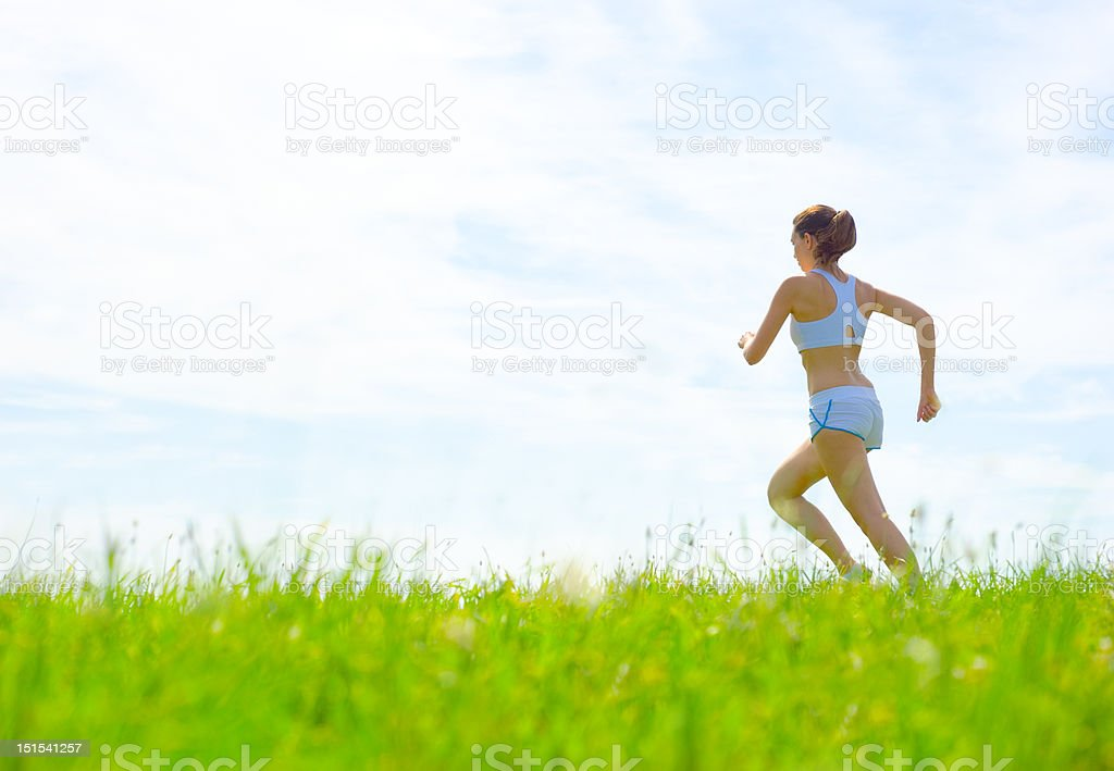 Mature Woman Athlete royalty-free stock photo