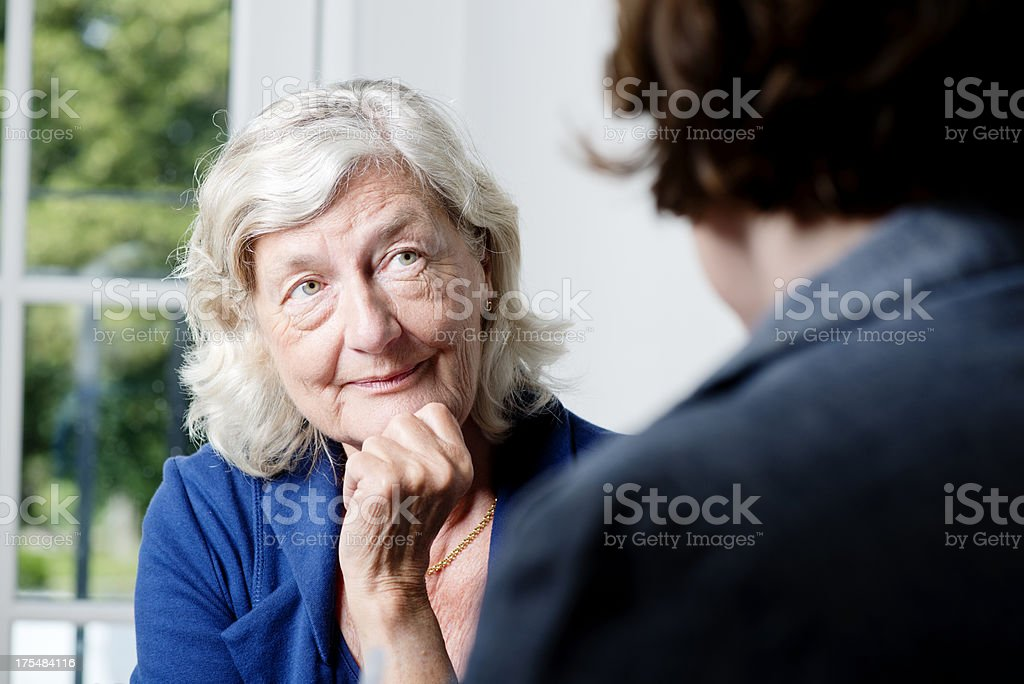 Mature Woman Counsellor stock photo