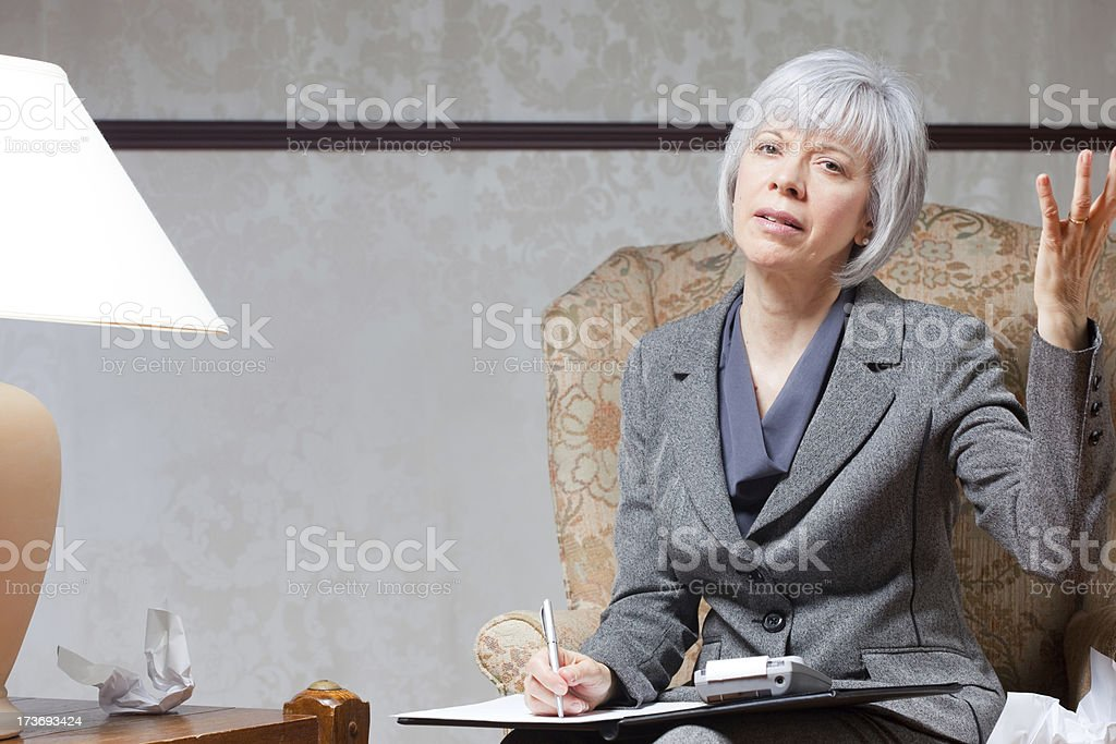 Mature Woman Frustrated royalty-free stock photo