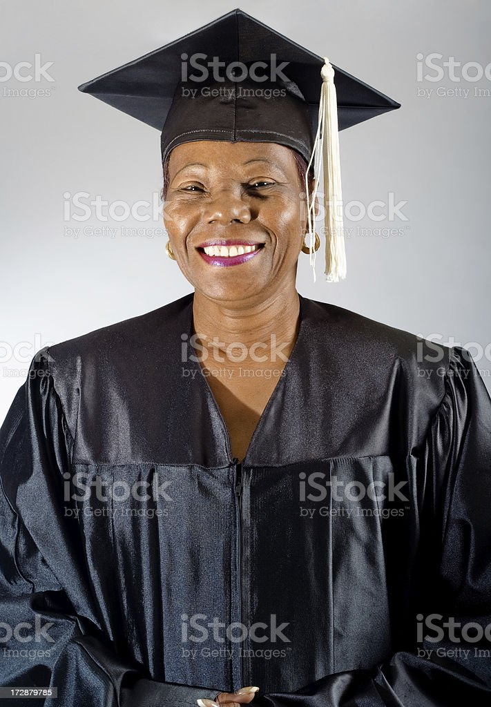 Mature Woman Graduates stock photo