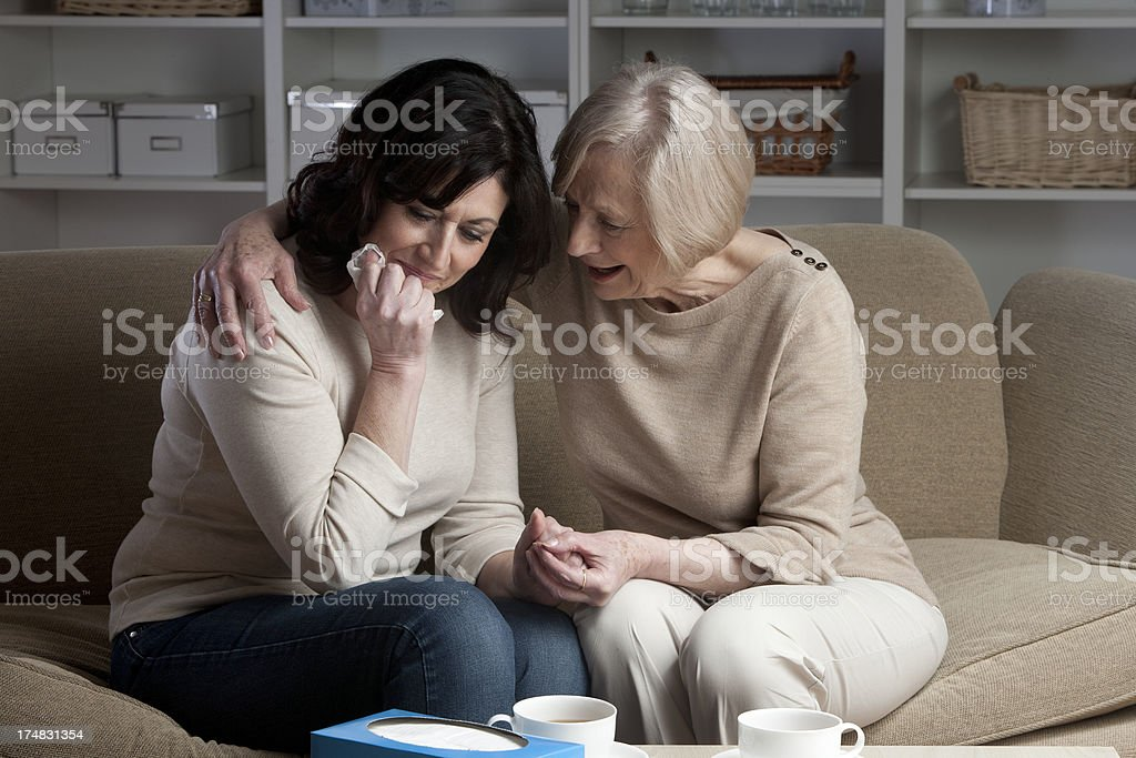 Mature Woman Grieving royalty-free stock photo