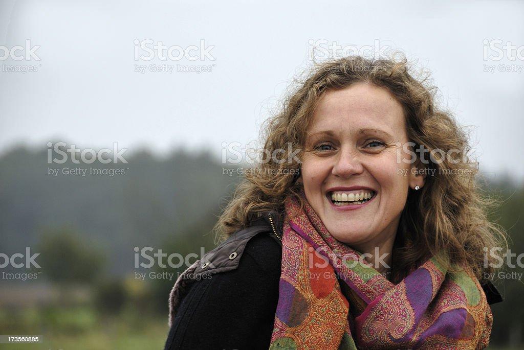 mature woman -happy stock photo