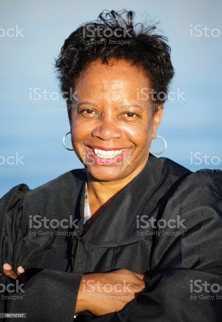 Mature Woman in a Gown stock photo
