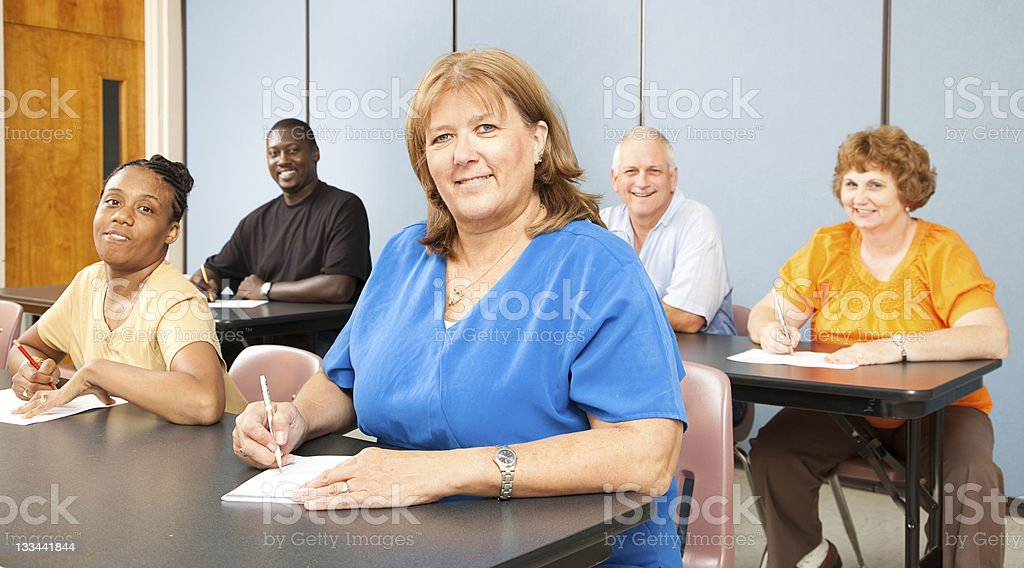 Mature Woman in College royalty-free stock photo
