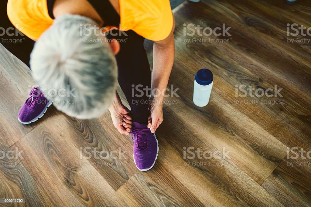 Mature Woman In Gym. stock photo