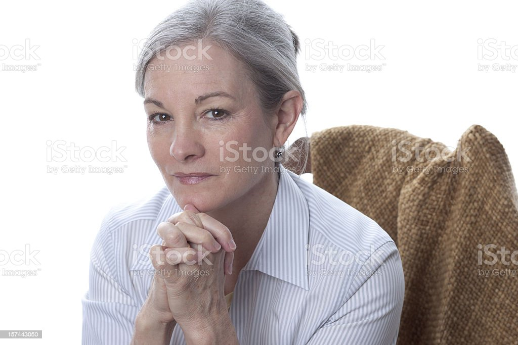 Mature Woman in Thoughtful Pose (XXL) royalty-free stock photo