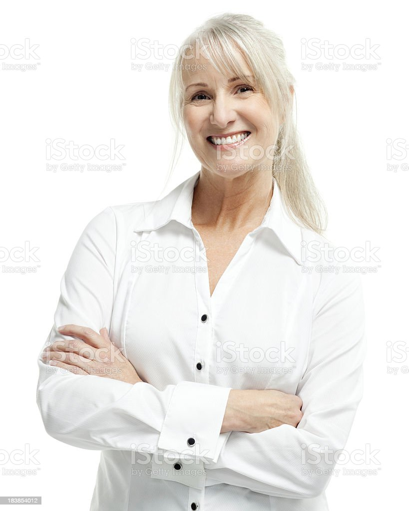 Mature Woman - Isolated royalty-free stock photo