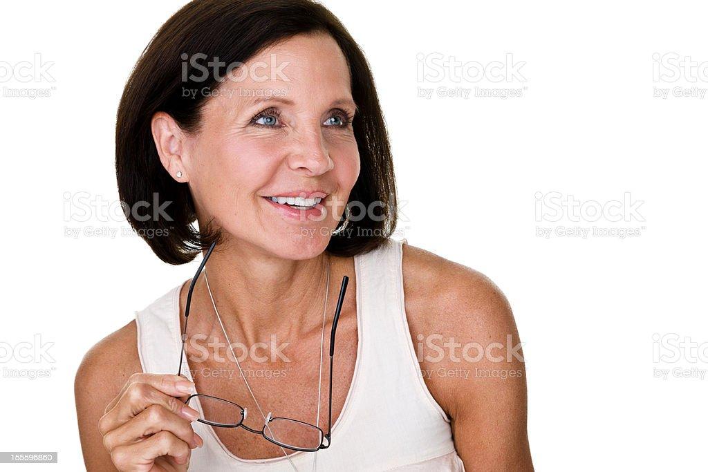 Mature woman looking away royalty-free stock photo