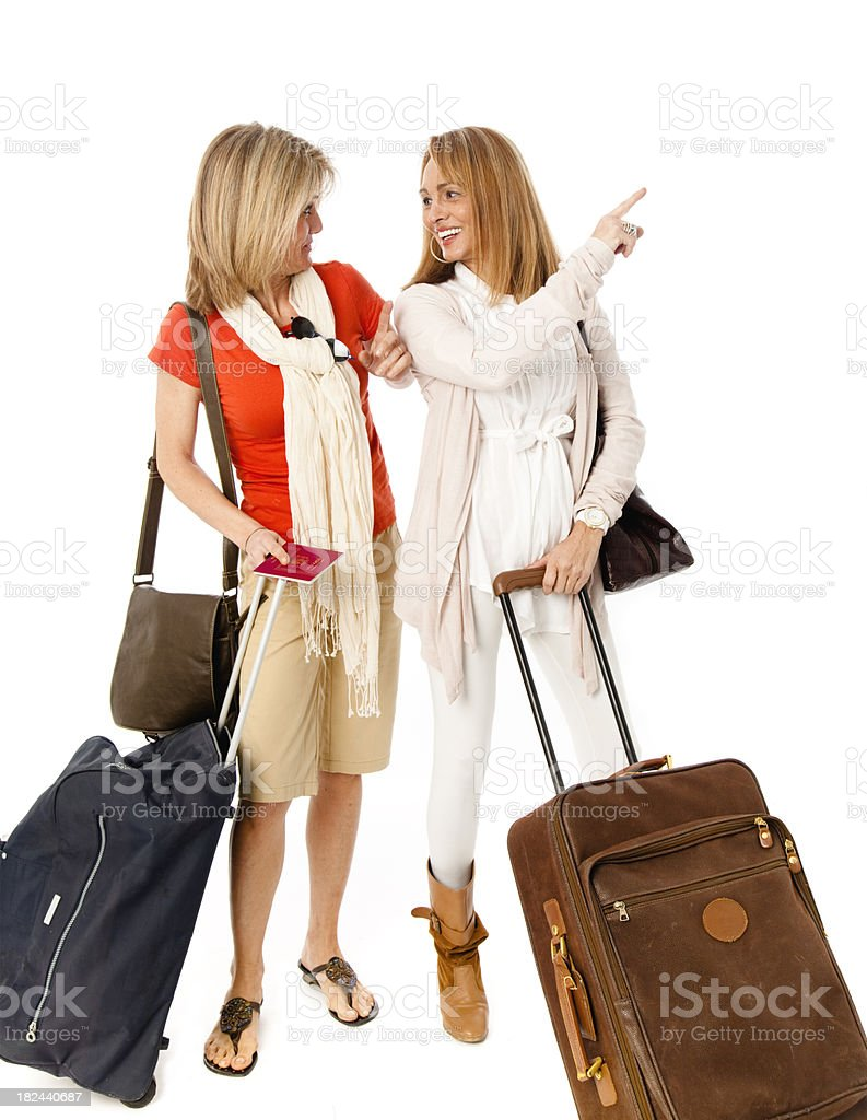 Mature woman on travel royalty-free stock photo