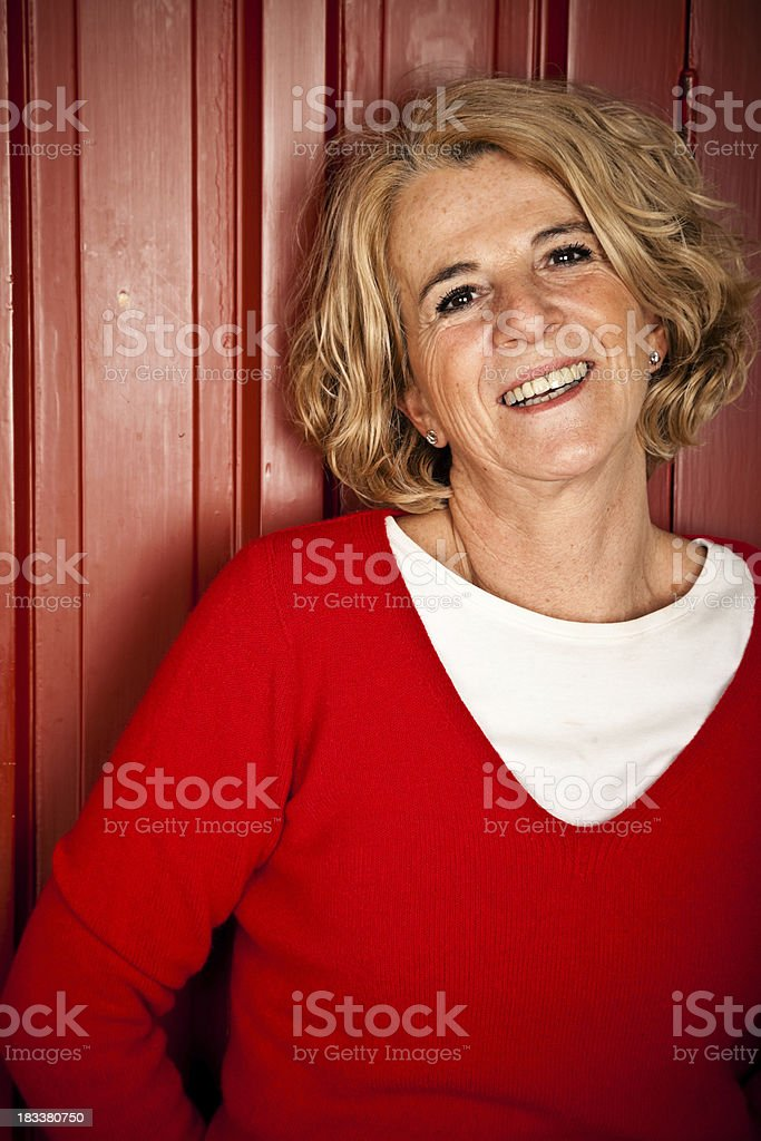 Mature Woman Portrait royalty-free stock photo