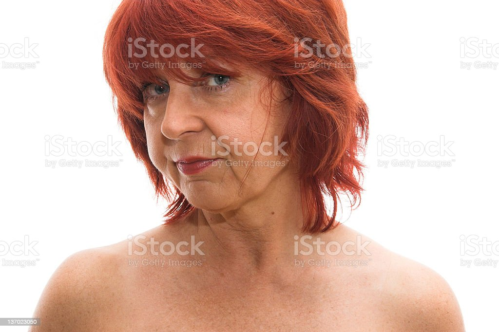 Mature woman posing royalty-free stock photo