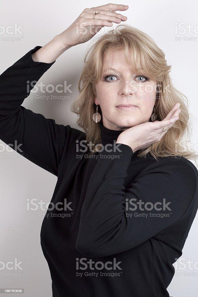 Mature Woman Posing royalty-free stock photo