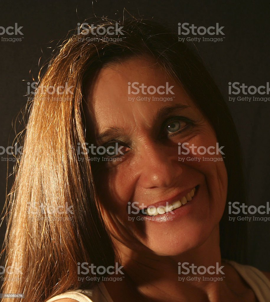 Mature Woman Smiling royalty-free stock photo