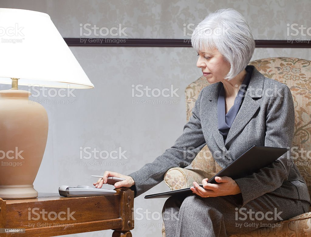 Mature Woman taking care of Business royalty-free stock photo